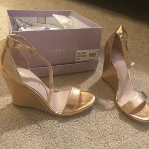 Rose Gold Madden Girl Wedge sandals